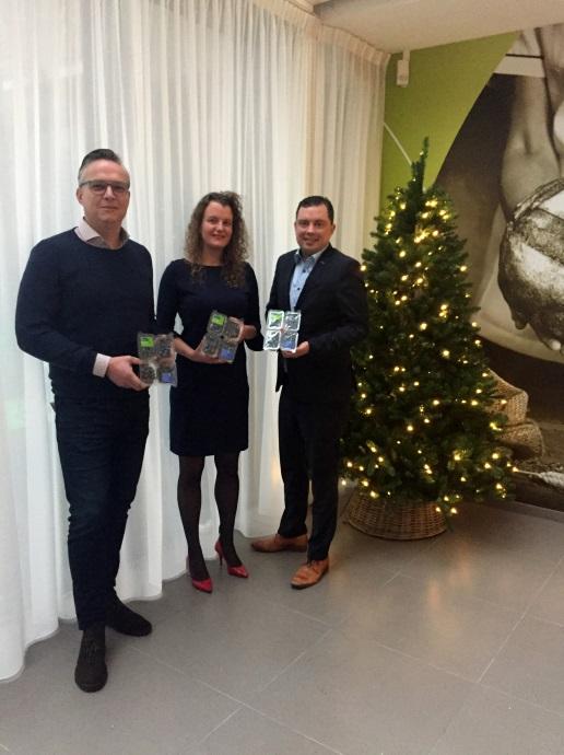 Van links naar rechts Jurgen van 't Hoff (Naturelle), Joyce Baak (PLUS Retail) en Bas de Graaf (The Greenery)